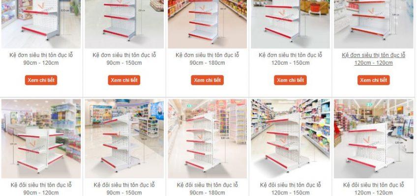 Bảng báo giá kệ siêu thị