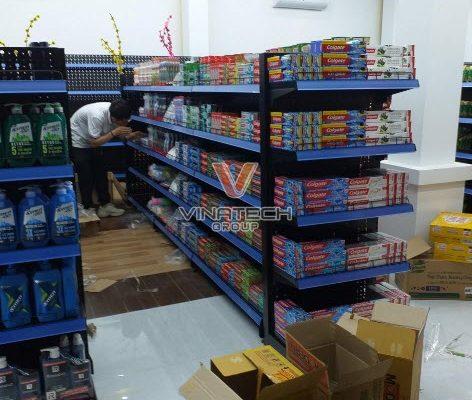 Lắp kệ siêu thị tại Quảng Trị cho khách hàng