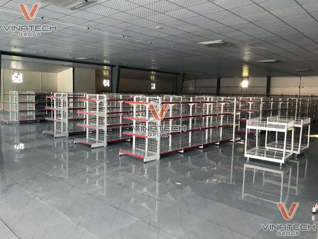 Hình ảnh lắp đặt kệ siêu thị tại Hải Dương của anh Thắng