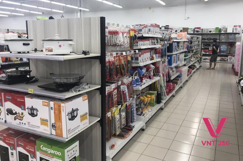 Hình ảnh lắp đặt kệ siêu thị tại Đà Nẵng