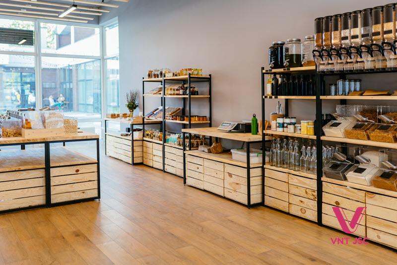 Siêu thị cửa hàng sẽ có xu hướng sử dụng kệ gỗ trong tương lai