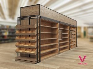 Kệ gỗ siêu thị