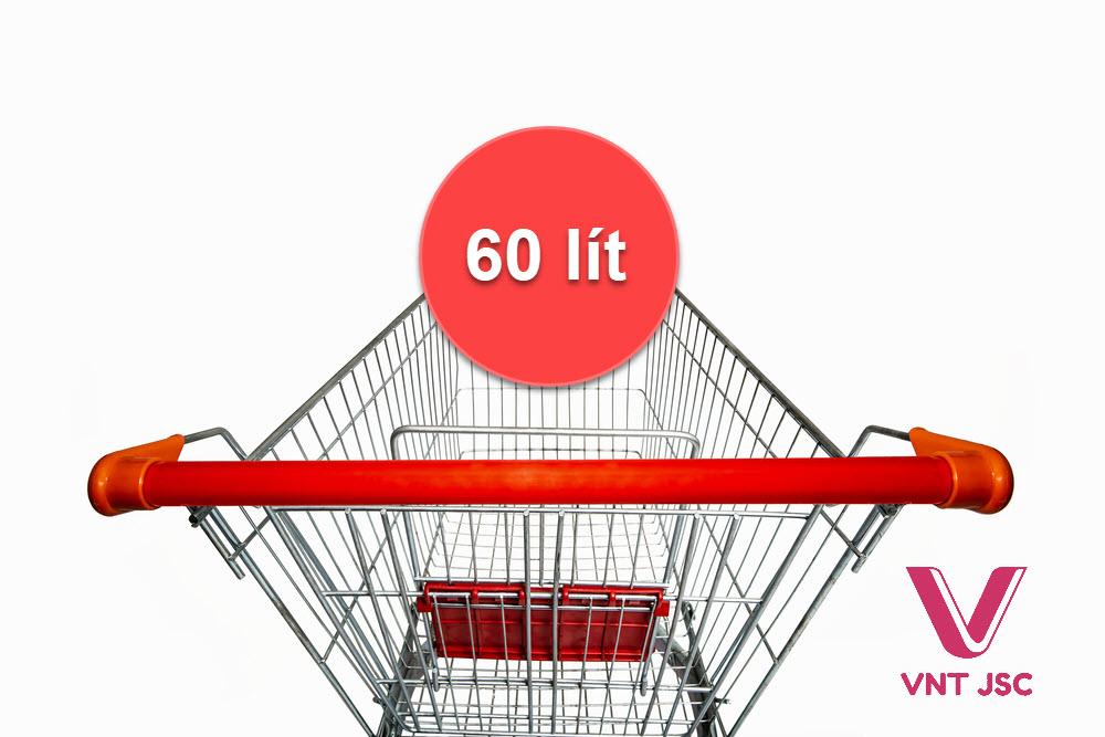 Cấu tạo xe đẩy siêu thị 60 lít