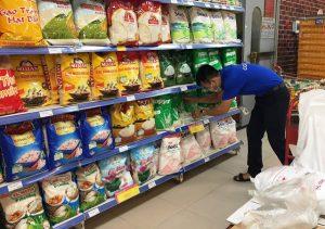 Kệ trưng bày gạo VNT JSC